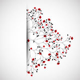 Abstract nature background with red flowers. Stock Image