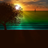 Abstract nature background with sea sunrise Stock Photo