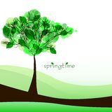 Abstract nature background with tree. Beautiful spring. Vector illustration stock illustration