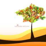 Abstract nature background with tree. Golden autumn Royalty Free Stock Photos