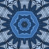 The blue flower of the sea. The abstract nature. The blue flower of the sea stock illustration