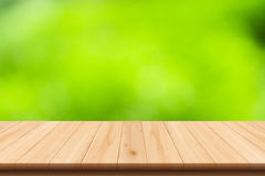 Abstract nature blur background and wooden floor Stock Photos