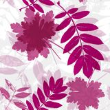 Abstract nature compositiion, seamless pattern vector illustration