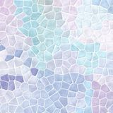 Nature marble plastic stony mosaic tiles texture background with white grout - soft light pastel blue, purple and violet Royalty Free Stock Photo