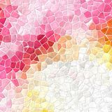 Nature marble plastic stony mosaic tiles texture background with white grout - sweet pink, orange, yellow and gray colors vector illustration