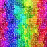 Nature marble plastic stony mosaic tiles texture background with white grout - vibrant neon full color raibow spectrum - vector illustration
