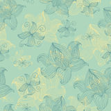 Abstract Nature Pattern with flowers. Stock Photos
