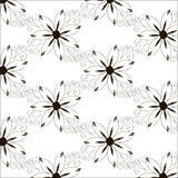 Abstract Nature Pattern with flowers. Monochrome. Seamless patte Stock Photos