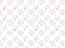 Abstract Nature Pattern with plants pink tone on white background, flowers. Stock Photo