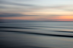 Abstract nature sunset. Abstract motion blur sunset nature background Stock Photo