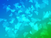 Abstract nature wallpaper with bokeh butterfly Royalty Free Stock Photography