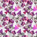 Abstract natuurlijk geometrisch naadloos patroon royalty-vrije illustratie