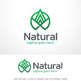 Abstract Natuurlijk Logo Template Design Vector Royalty-vrije Stock Fotografie