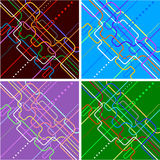 Abstract navigation scheme. Of various colorful lines Stock Image