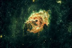 Abstract Artistic Beautiful Smooth Nebula Galaxy In Deep Space Background stock illustration