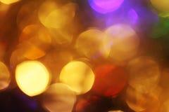 Abstract neem van kleurrijke Kerstmislichten, een achtergrond Royalty-vrije Stock Foto