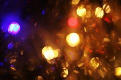 Abstract neem van kleurrijke Kerstmislichten, een achtergrond Stock Foto
