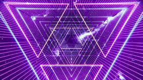Abstract neon backdrop. Ultraviolet background with bright glowing tunnel