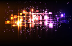 Abstract neon background template Stock Image