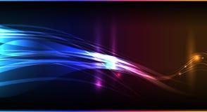 Abstract neon bedrijfsmalplaatje Stock Fotografie