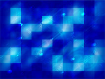 Abstract neon blue background with squares Stock Images