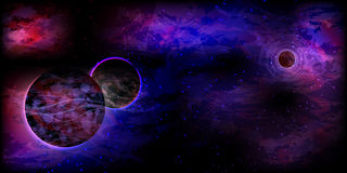Abstract neon Bright cosmos from the planet Stock Photos
