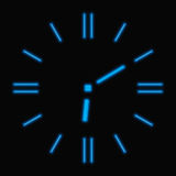 Abstract neon clock Stock Photos