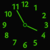 Abstract neon clock Royalty Free Stock Photos