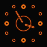 Abstract neon clock Stock Photo