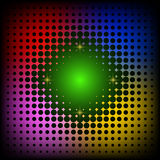 Abstract neon colorful circles background Stock Photo