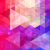 Abstract neon colorful triangle pattern background. Vector stock illustration
