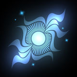 Abstract neon flower. Abstract background - the neon blue flower royalty free illustration