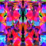 Abstract neon geometrisch modern ontwerp pictur Royalty-vrije Stock Foto