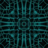 Abstract Neon Glow Geometric Square Design Stock Photography