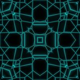 Abstract Neon Glow Geometric Tile Design Royalty Free Stock Images