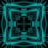 Abstract Neon Glow Geometric Tile Design Stock Images