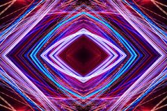Abstract neon glowing lines in motion stock illustration