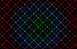 Abstract neon grid background vector illustration