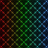 Abstract neon grid background Stock Photography