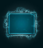Abstract neon grunge frame Royalty Free Stock Photos