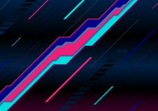 Abstract neon laser lines geometric tech background. Vector design stock illustration