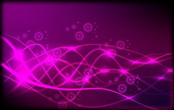 Abstract Neon Light Wave Background Royalty Free Stock Photo