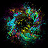 Abstract Neon lines Stock Photo