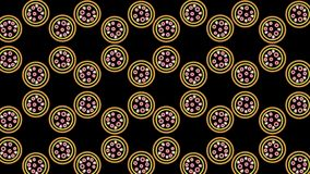 abstract neon pizza pattern stock image