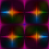 Abstract neon shining vector background Royalty Free Stock Images