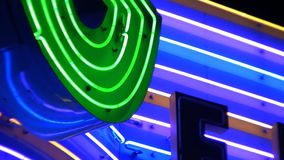 Abstract Neon Sign stock video