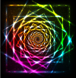 Abstract neon spiral vector background Stock Images