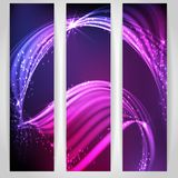 Abstract Neon Waves. Vector Illustration. Eps 10 Royalty Free Stock Photo