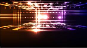 Abstract neonmalplaatje als achtergrond Stock Fotografie