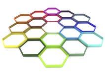 Abstract net in verschillende kleuren Royalty-vrije Stock Fotografie